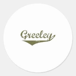 Greeley Revolution t shirts Classic Round Sticker