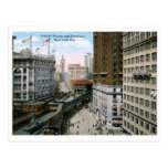 Greeley Square Broadway New York City 1921 Vintage Postcard