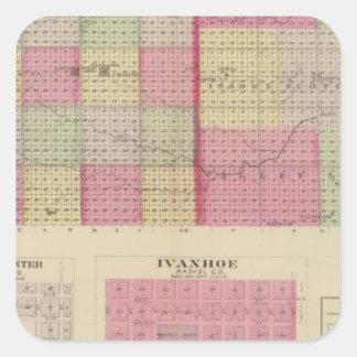 Greeley, Wichita, and Scott Counties, Kansas Square Sticker