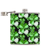 Greem Shamrock St. Patrick's Day Hip Flasks