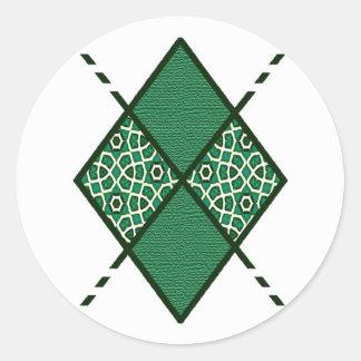 Green-01 - Bottle Green Classic Round Sticker