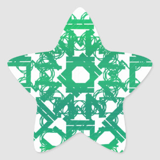 Green 101STAR Star Sticker