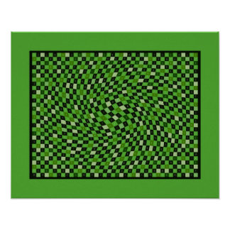 Green 1200 Pieces of pi Poster
