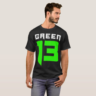 Green 13 Logo (Black) T-Shirt