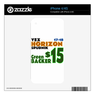 Green ($15) iPhone 4S decals