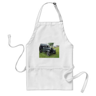 Green 1932 dump truck with classic headlamps adult apron