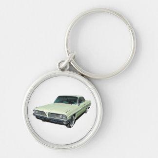 Green 1961 Ventura Bubble Top Silver-Colored Round Keychain
