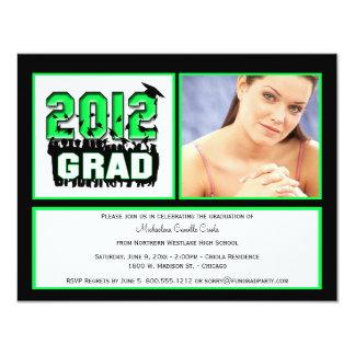Green 2012 Graduation Party Photo Invitation
