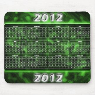 Green 2012 Mousepad Calendar