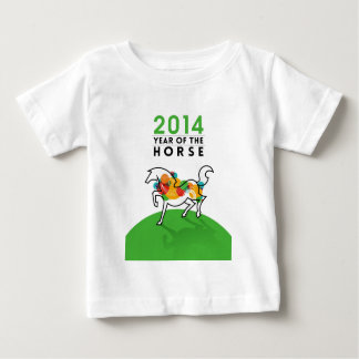 GREEN 2014 YEAR OF THE HORSE. BABY T-Shirt