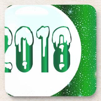 Green 2018 New Year Coaster