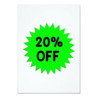 Green 20 Percent Off Custom Invites
