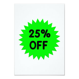 Green 25 Percent Off Custom Invitation