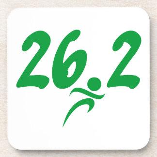 Green 26.2 marathon coasters