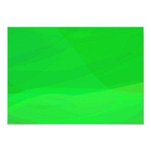 Green 2 5x7 paper invitation card