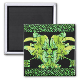 Green 2 Inch Square Magnet