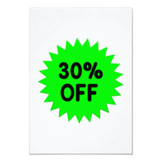 Green 30 Percent Off Personalized Announcement