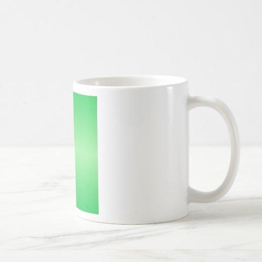 Green 3 - Dark Pastel Green and Light Green Classic White Coffee Mug