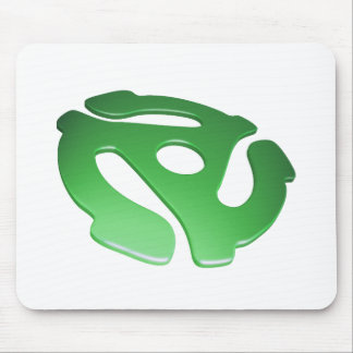 Green 3D 45 RPM Adapter Mouse Pad