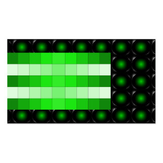 Green 3D Illusion Unusual Business Card 5