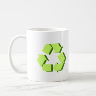Green 3D Recycle mug
