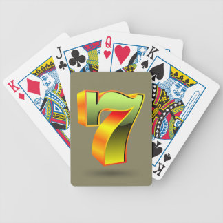 green 3D seven number Bicycle Playing Cards