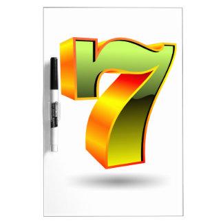 green 3D seven number Dry Erase Board