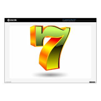 green 3D seven number Laptop Skin