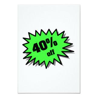 Green 40 Percent Off Custom Invite