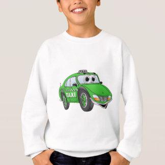 Green 4 Door Taxi Cab Cartoon Sweatshirt