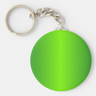 Green 4 - Lawn Green and Forest Green Gradient Basic Round Button Keychain