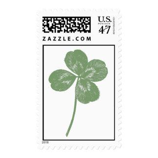 Green 4-leaf Clover Stamp