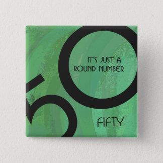 Green 50 Decade Birthday Pinback Button