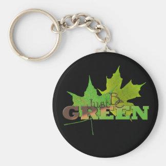 Green 5 keychain