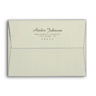 Green 5 x 7 Pre-Addressed Envelopes