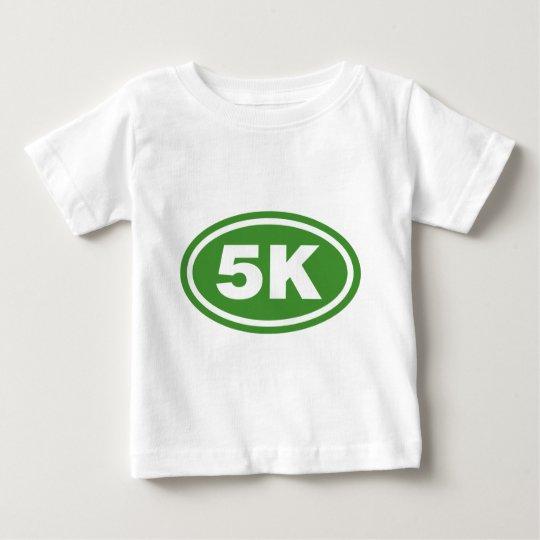 Green 5K Runner Oval Baby T-Shirt