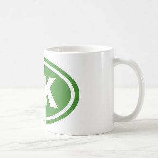 Green 5K Runner Oval Mug