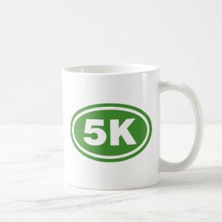 Green 5K Runner Oval Coffee Mug