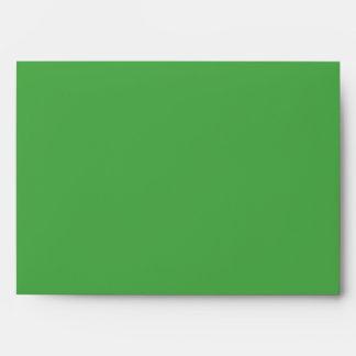 Green 5x7 envelope