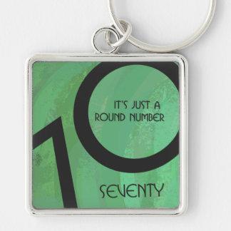 Green 70 Decade Birthday Keychain