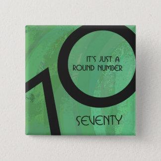 Green 70 Decade Birthday Pinback Button