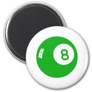 Green 8 Ball! 2 Inch Round Magnet