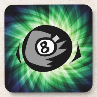 Green 8 ball coaster