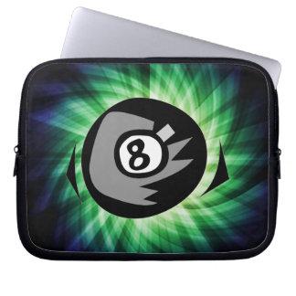 Green 8 ball computer sleeve
