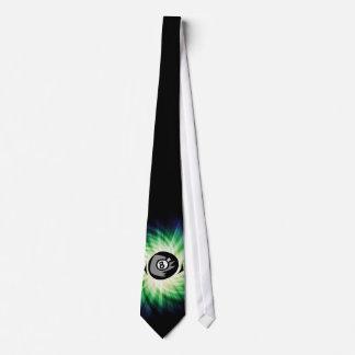 Green 8 ball neck tie