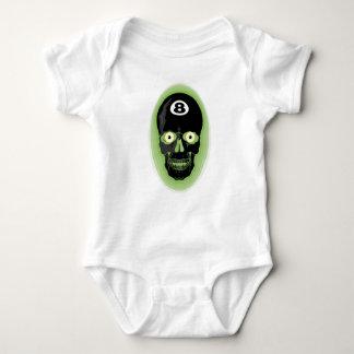 Green 8 Ball Pool Skull T Shirt