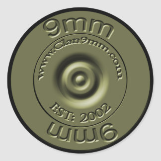 Green 9mm Badge Sticker