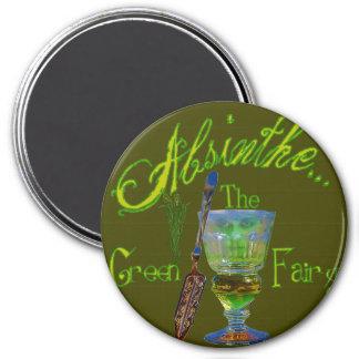 Green Absinthe Green Fairy III Magnet