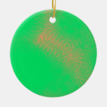 green abstract art christmas ornaments