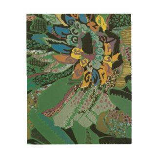 Green Abstract Art Deco Flower